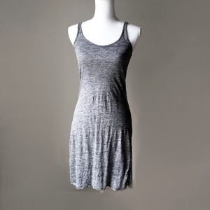 RAG & BONE linen grey body con tunic tank dress xs